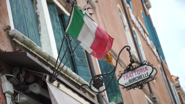 venice - flags - italian culture stock videos & royalty-free footage