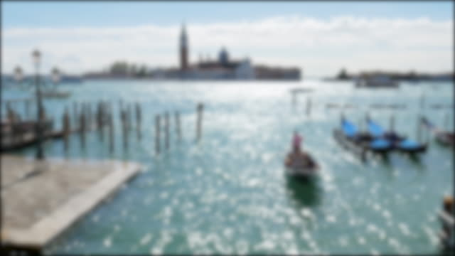 vídeos de stock e filmes b-roll de venice italy , blurred concept for video background - catedral