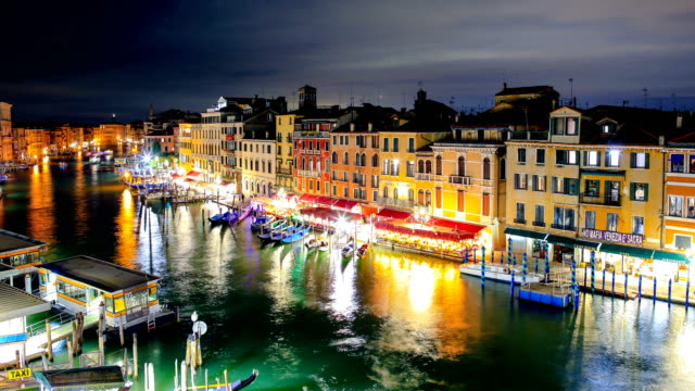 venice, italy night time lapse - seascape stock videos & royalty-free footage