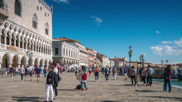 Venice italy , Tourist Visiting Venice , Time Lapse
