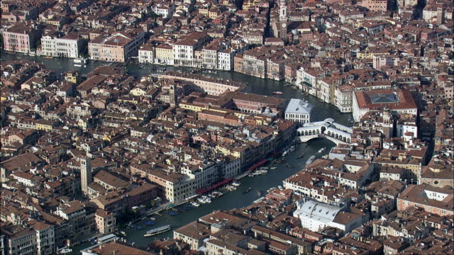 venice lagoon - aerial view - veneto, venice, italy - grand canal venice stock videos & royalty-free footage