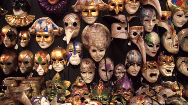 venice - masks - large group of objects stock videos & royalty-free footage