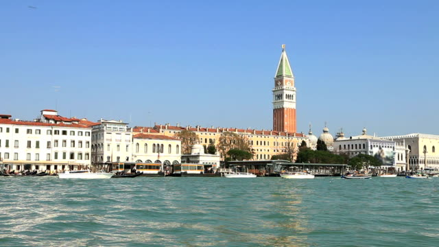 venice or venezia, italy. grand canal/bacino di san marco. - grand canal venice stock videos & royalty-free footage