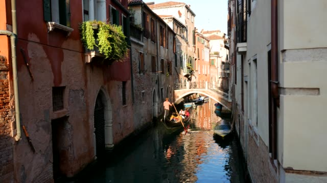 venice peaceful narrow canal in dorsoduro district - venice italy stock videos & royalty-free footage