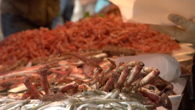 Venice - Rialto fish market with fishmonger