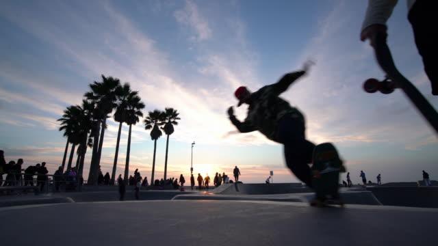 venice skate park - venice california stock videos & royalty-free footage