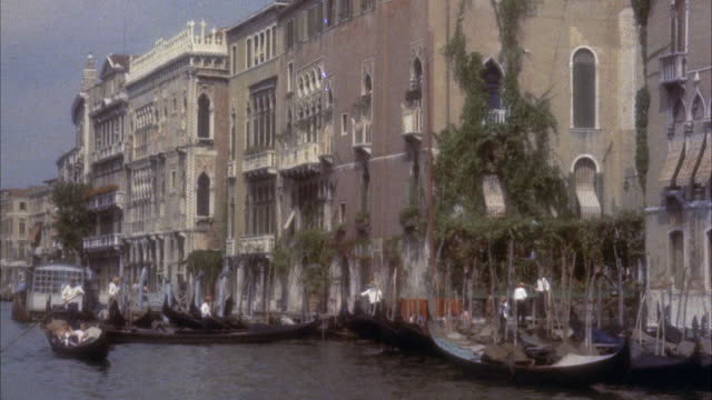ms pov venices grand canal / venice, italy - grand canal venice stock videos & royalty-free footage