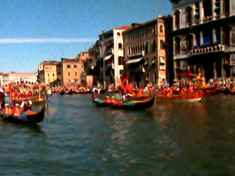 venezianischen regatta pal - wettkampf stock-videos und b-roll-filmmaterial