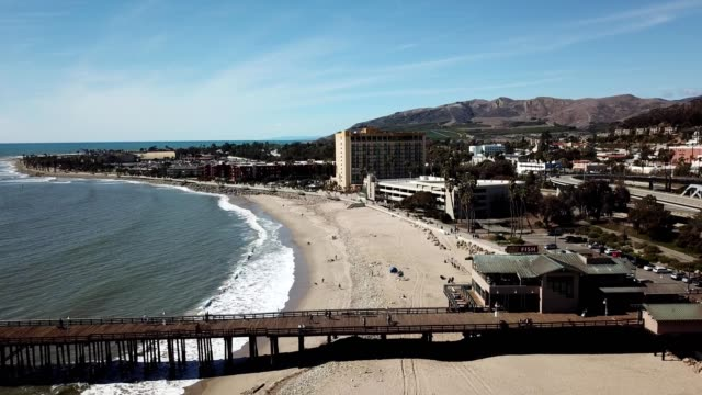 ventura beach and pier in california - southern california stock videos & royalty-free footage