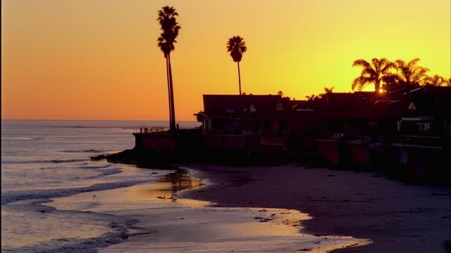 ws ventura county beach at sunset, ventura, california, usa - ventura stock videos and b-roll footage
