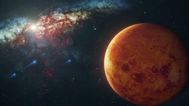 vídeos de stock, filmes e b-roll de vênus em espaço aberto - exploração espacial