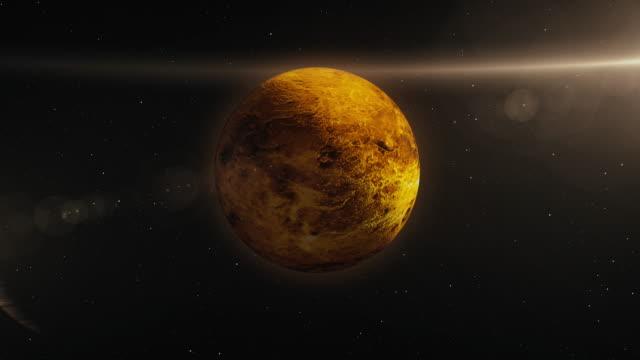 stockvideo's en b-roll-footage met venus planeet in ruimte 3d illustratie - astronomietelescoop