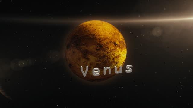venus planet im raum 3d illustration - symbol stock-videos und b-roll-filmmaterial
