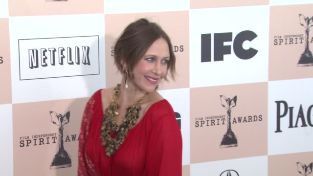 vera farmiga at the 2011 independent spirit awards - arrivals at santa monica ca. - independent feature project stock videos & royalty-free footage