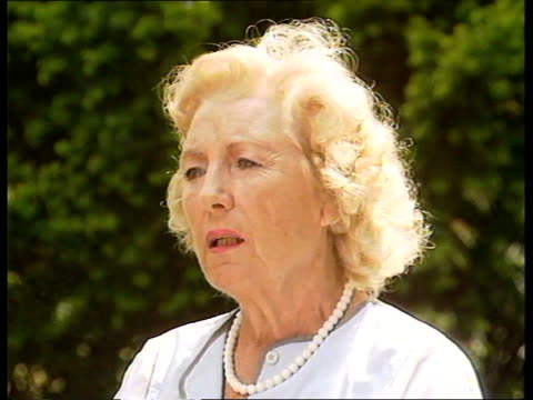 the forces sweetheart england sussex ditchling dame vera lynn interview sot - affectionate stock videos & royalty-free footage