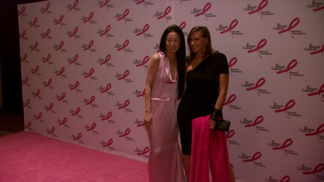 vera wang and donna karen at the 2010 breast cancer research foundation's hot pink party - arrivals at new york ny. - hot pink stock videos & royalty-free footage