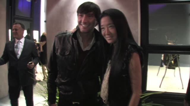 Vera Wang and Evan Lysacek outside the Vera Wang Los Angeles Boutique at the Celebrity Sightings in Los Angeles at Los Angeles CA
