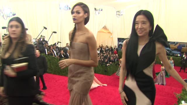 vera wang and joan smalls at charles james beyond fashion costume institute gala arrivals at the metropolitan museum on may 05 2014 in new york city - joan smalls stock videos & royalty-free footage