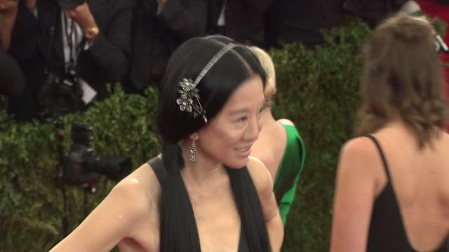 Vera Wang at China Through The Looking Glass Costume Institute Benefit Gala Arrivals at Metropolitan Museum of Art on May 04 2015 in New York City