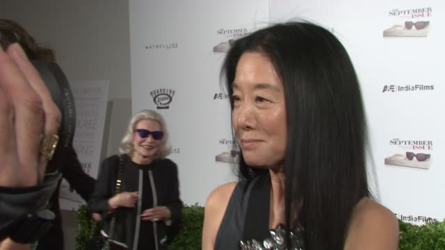 vera wang at the new york special screening of the september issue at new york ny - september stock videos and b-roll footage