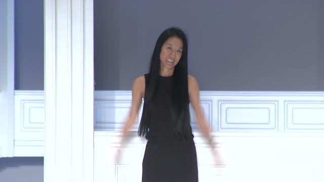 Vera Wang walks the runway after Vera Wang Spring 2012 during MercedesBenz Fashion Week Spring 2012 at the Vera Wang Spring 2012 MercedesBenz Fashion...