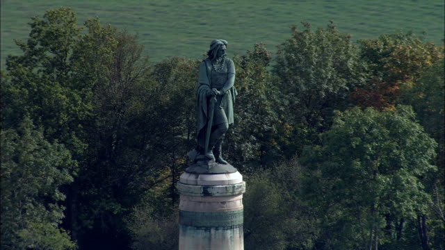 Vercingretorex Memorial  - Aerial View - Bourgogne, Cote d'Or, Arrondissement de Montbard, France