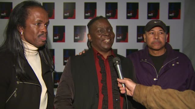 verdine white philip bailey and maurice white of earth wind fire on participating in the event at the we are the world 25th anniversary recording for... - 25th anniversary stock videos and b-roll footage