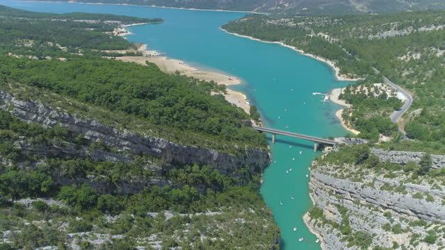 verdon gorge (gorges du verdon) river canyon / alpes de haute provence, france - narrow stock videos & royalty-free footage