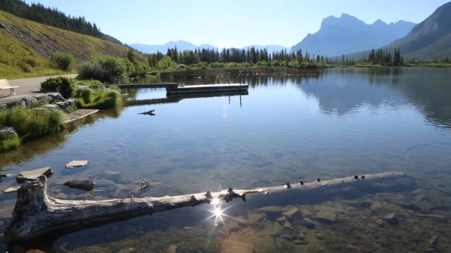 Vermilion Lakes with Canadian Rockies near Banff