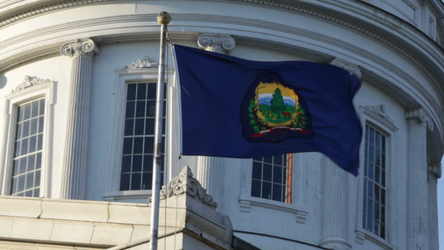 vermont capitol flag - vermont stock videos & royalty-free footage