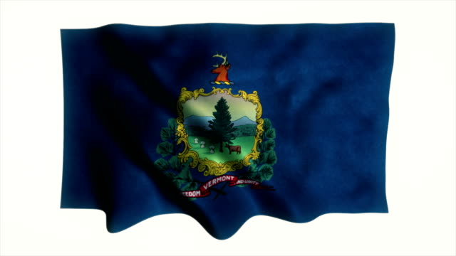 Vermont flag waving animation