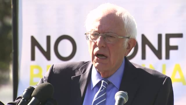 vermont senator bernie sanders asks opponents of the supreme court nomination of seventh circuit judge amy coney barrett at a rally on the capitol... - medicare stock videos & royalty-free footage