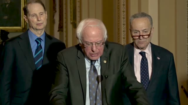 Vermont Senator Bernie Sanders calls the Tax Cuts and Jobs Act a unprecedented highway robbery in broad daylight and eluding of the federal treasury...