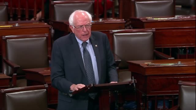 vermont senator bernie sanders says as a supplemental fbi background check on supreme court nominee judge brett kavanaugh wound down that his initial... - 研磨器点の映像素材/bロール