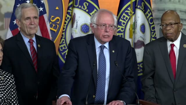 vermont senator bernie sanders says at a news conference with democrats on prescription drug prices that as a result of the incredible wealth and... - prescription drug costs stock videos & royalty-free footage