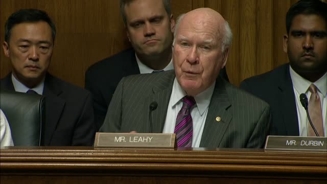 vermont senator pat leahy asks christopher wray what he would do if president donald trump asked him to do something unlawful as fbi director and... - christopher a. wray stock videos & royalty-free footage