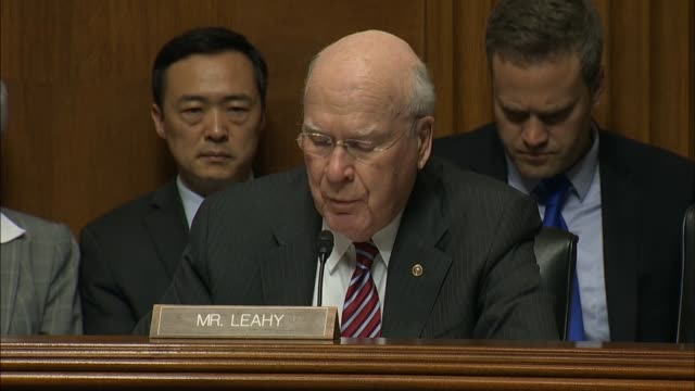 Vermont Senator Pat Leahy asks FBI Director James Comey if Rudy Giuliani was made aware with advance notice regarding the investigation to which...