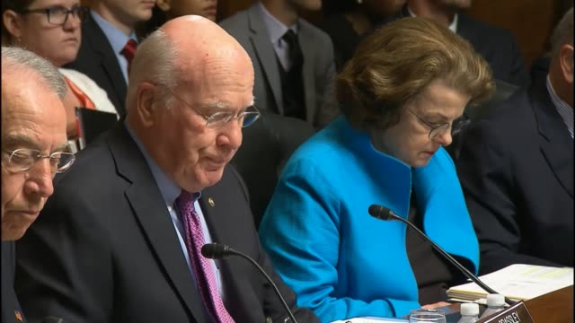 Vermont Senator Pat Leahy describes uses of personal data says if you undermine encryption you can make data more vulnerable