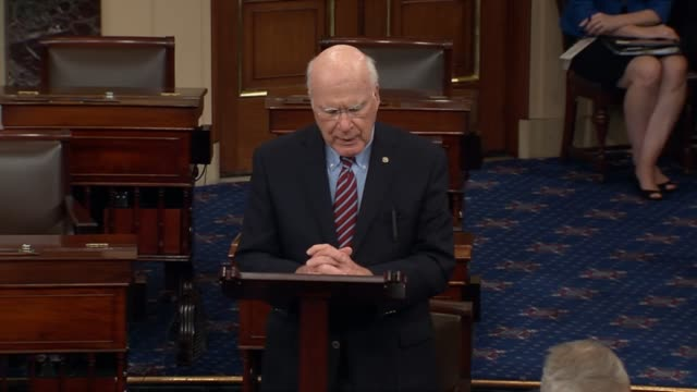 Vermont Senator Pat Leahy discusses a letter from constituent ellen stats following on incidence of gun violence to call for gun laws saying that the...