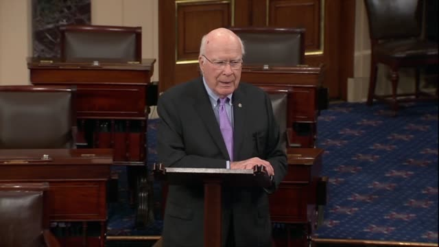 Vermont Senator Pat Leahy says Appropriations Committee staff had worked nights and weekends to position the Senate for fiscal 2019 and Senators were...