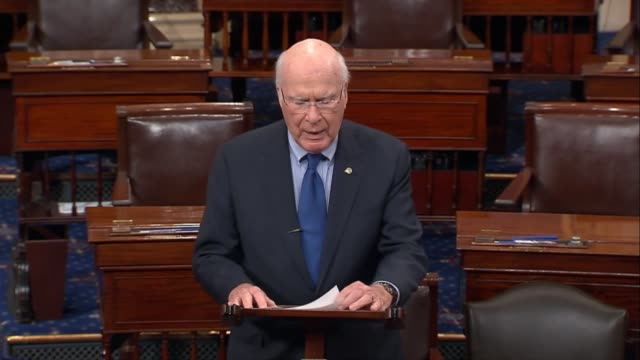 vermont senator pat leahy says in floor remarks that no one is immune from disaster he recalls fellow senators offering to help for my rebuild after... - game show stock videos & royalty-free footage