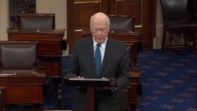 Vermont Senator Pat Leahy says there had been an unrelenting cynical campaign by hyper partisans to delegitimize the authority of President Barack...
