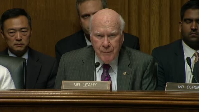 vermont senator pat leahy tells fbi director nominee christopher wray he wishes they met under different circumstances and leahy was troubled by... - christopher a. wray stock videos & royalty-free footage