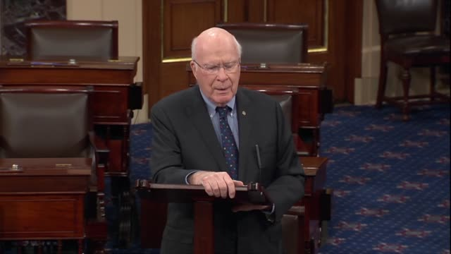 vermont senator patrick leahy says in debate on the first step act that under current criminal code, a well-respected person on wall street or... - リーハイ点の映像素材/bロール