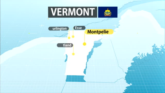 vermont state map - vermont stock videos & royalty-free footage