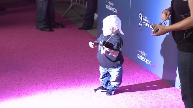 verne troyer at the tmobile sidekick lx tony hawk edition launch at los angeles ca - verne troyer stock videos & royalty-free footage