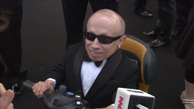 verne troyer on looking forward to seeing mike myers at the cannes film festival 2009 amfar red carpet at antibes - verne troyer stock videos & royalty-free footage