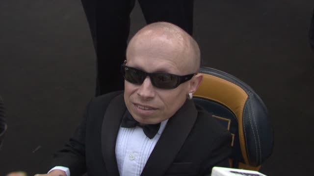 verne troyer on not yet knowing what is being auctioned at the cannes film festival 2009 amfar red carpet at antibes - verne troyer stock videos & royalty-free footage