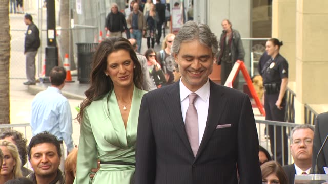 Veronica Berti and Andrea Bocelli at the Andrea Bocelli Honored With A Star On The Hollywood Walk Of Fame at Hollywood CA