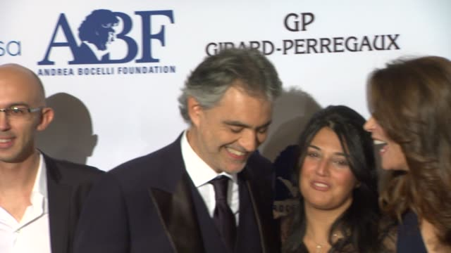 Veronica Berti Andrea Bocelli and Jo Champa at Andrea Bocelli Foundation's 2011 Benefit Gala on 12/9/2011 in Beverly Hills CA